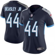 Wholesale Cheap Nike Titans #44 Vic Beasley Jr Navy Blue Team Color Women's Stitched NFL Vapor Untouchable Limited Jersey