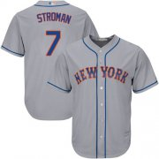 Wholesale Cheap Mets #7 Marcus Stroman Grey New Cool Base Stitched MLB Jersey