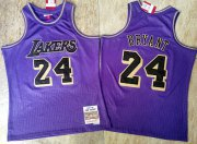 Wholesale Cheap Men's Los Angeles Lakers #24 Kobe Bryant Purple 2007-08 Hardwood Classics Soul AU Throwback Jersey