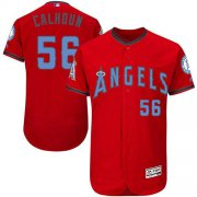 Wholesale Cheap Angels of Anaheim #56 Kole Calhoun Red Flexbase Authentic Collection Father's Day Stitched MLB Jersey