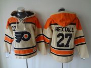 Wholesale Cheap Flyers #27 Ron Hextall Cream Sawyer Hooded Sweatshirt Stitched NHL Jersey