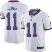 Wholesale Cheap Nike Giants #11 Phil Simms White Men's Stitched NFL Limited Rush Jersey