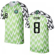 Wholesale Cheap Nigeria #8 Etebo Home Soccer Country Jersey
