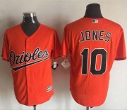 Wholesale Cheap Orioles #10 Adam Jones Orange New Cool Base Stitched MLB Jersey