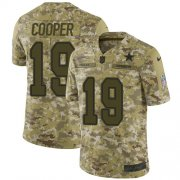 Wholesale Cheap Nike Cowboys #19 Amari Cooper Camo Youth Stitched NFL Limited 2018 Salute to Service Jersey