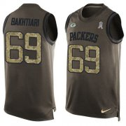 Wholesale Cheap Nike Packers #69 David Bakhtiari Green Men's Stitched NFL Limited Salute To Service Tank Top Jersey