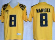 Wholesale Cheap Oregon Ducks #8 Marcus Mariota 2013 Yellow Limited Jersey