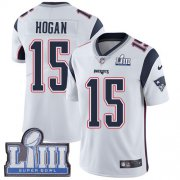 Wholesale Cheap Nike Patriots #15 Chris Hogan White Super Bowl LIII Bound Youth Stitched NFL Vapor Untouchable Limited Jersey