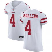 Wholesale Cheap Nike 49ers #4 Nick Mullens White Men's Stitched NFL Vapor Untouchable Elite Jersey