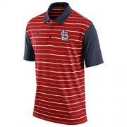 Wholesale Cheap Men's St.Louis Cardinals Nike Red Dri-FIT Stripe Polo