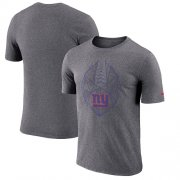 Wholesale Cheap Men's New York Giants Nike Heathered Charcoal Fan Gear Icon Performance T-Shirt