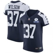 Wholesale Cheap Nike Cowboys #37 Donovan Wilson Navy Blue Thanksgiving Men's Stitched With Established In 1960 Patch NFL Vapor Untouchable Throwback Elite Jersey