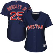 Wholesale Cheap Red Sox #25 Jackie Bradley Jr Navy Blue Alternate 2018 World Series Champions Women's Stitched MLB Jersey