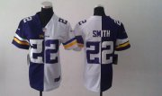 Wholesale Cheap Nike Vikings #22 Harrison Smith Purple/White Women's Stitched NFL Elite Split Jersey