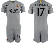 Wholesale Cheap Roma #17 Cengiz Under Away Soccer Club Jersey