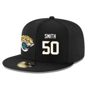 Wholesale Cheap Jacksonville Jaguars #50 Telvin Smith Snapback Cap NFL Player Black with White Number Stitched Hat