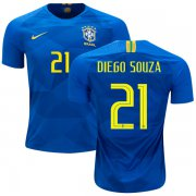 Wholesale Cheap Brazil #21 Diego Souza Away Kid Soccer Country Jersey