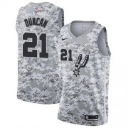 Wholesale Cheap Men's Nike San Antonio Spurs #21 Tim Duncan White Camo Basketball Swingman Earned Edition Jersey