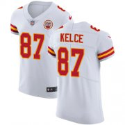 Wholesale Cheap Nike Chiefs #87 Travis Kelce White Men's Stitched NFL Vapor Untouchable Elite Jersey