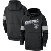 Wholesale Cheap Las Vegas Raiders Nike Sideline Team Logo Performance Pullover Hoodie Black