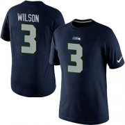 Wholesale Cheap Nike Seattle Seahawks #3 Russell Wilson Pride Name & Number NFL T-Shirt Blue