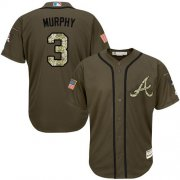 Wholesale Cheap Braves #3 Dale Murphy Green Salute to Service Stitched Youth MLB Jersey