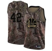 Wholesale Cheap Nike Golden State Warriors #42 Nate Thurmond Camo NBA Swingman Realtree Collection Jersey