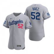 Wholesale Cheap Los Angeles Dodgers #52 Pedro Baez Gray 2020 World Series Champions Jersey