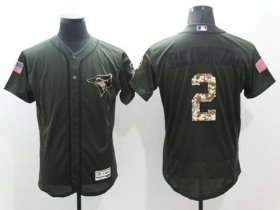 Wholesale Cheap Blue Jays #2 Troy Tulowitzki Green Flexbase Authentic Collection Salute to Service Stitched MLB Jersey