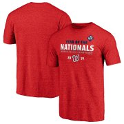 Wholesale Cheap Washington Nationals Majestic 2019 World Series Champions Complete Game T-Shirt Heather Red