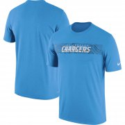 Wholesale Cheap Los Angeles Chargers Nike Sideline Seismic Legend Performance T-Shirt Blue