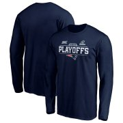Wholesale Cheap New England Patriots 2019 NFL Playoffs Bound Chip Shot Long Sleeve T-Shirt Navy