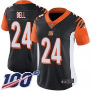 Wholesale Cheap Nike Bengals #24 Vonn Bell Black Team Color Women's Stitched NFL 100th Season Vapor Untouchable Limited Jersey