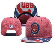 Wholesale Cheap MLB Chicago Cubs Snapback Ajustable Cap Hat YD 9