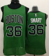 Wholesale Cheap Boston Celtics #36 Marcus Smart Green With Black Swingman Jersey