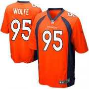 Wholesale Cheap Nike Broncos #95 Derek Wolfe Orange Team Color Youth Stitched NFL New Elite Jersey