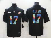 Wholesale Cheap Men's Buffalo Bills #17 Josh Allen Multi-Color Black 2020 NFL Crucial Catch Vapor Untouchable Nike Limited Jersey