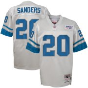 Wholesale Cheap Youth Detroit Lions #20 Barry Sanders Mitchell & Ness Platinum NFL 100 Retired Player Legacy Jersey