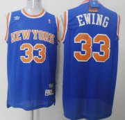 Wholesale Cheap New York Knicks #33 Patrick Ewing Blue Swingman Throwback Jersey
