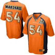 Wholesale Cheap Nike Broncos #54 Brandon Marshall Orange Team Color Men's Stitched NFL Game Super Bowl 50 Collection Jersey