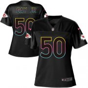 Wholesale Cheap Nike Chiefs #50 Willie Gay Jr. Black Women's NFL Fashion Game Jersey