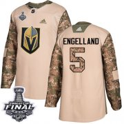 Wholesale Cheap Adidas Golden Knights #5 Deryk Engelland Camo Authentic 2017 Veterans Day 2018 Stanley Cup Final Stitched NHL Jersey