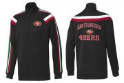Wholesale Cheap NFL San Francisco 49ers Heart Jacket Black_1