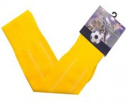 Wholesale Cheap Blank Soccer Football Sock Yellow