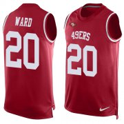 Wholesale Cheap Nike 49ers #20 Jimmie Ward Red Team Color Men's Stitched NFL Limited Tank Top Jersey