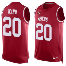 Wholesale Cheap Nike 49ers #20 Jimmie Ward Red Team Color Men\'s Stitched NFL Limited Tank Top Jersey