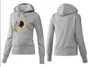 Wholesale Cheap Women's Washington Redskins Logo Pullover Hoodie Grey