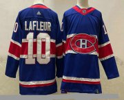 Wholesale Cheap Men's Montreal Canadiens #10 Guy Lafleur Blue 2021 Retro Stitched NHL Jersey