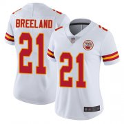 Wholesale Cheap Nike Chiefs #21 Bashaud Breeland White Women's Stitched NFL Vapor Untouchable Limited Jersey