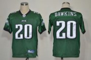 Wholesale Cheap Eagles #20 Brian Dawkins Green Stitched NFL Jersey